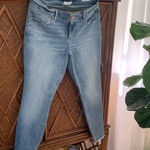 NWT loft skinny frayed hem jeans